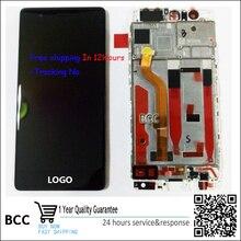 Original neue lcd display touchscreen digitalisieren + rahmen für huawei p9 eva-l09 eva-l19 schwarz/weiß/gold + track