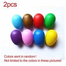 Лидер продаж упаковка из 2 пластиковых песочных яиц шейкер Ударные музыкальные инструменты игрушки раннее образование для детей