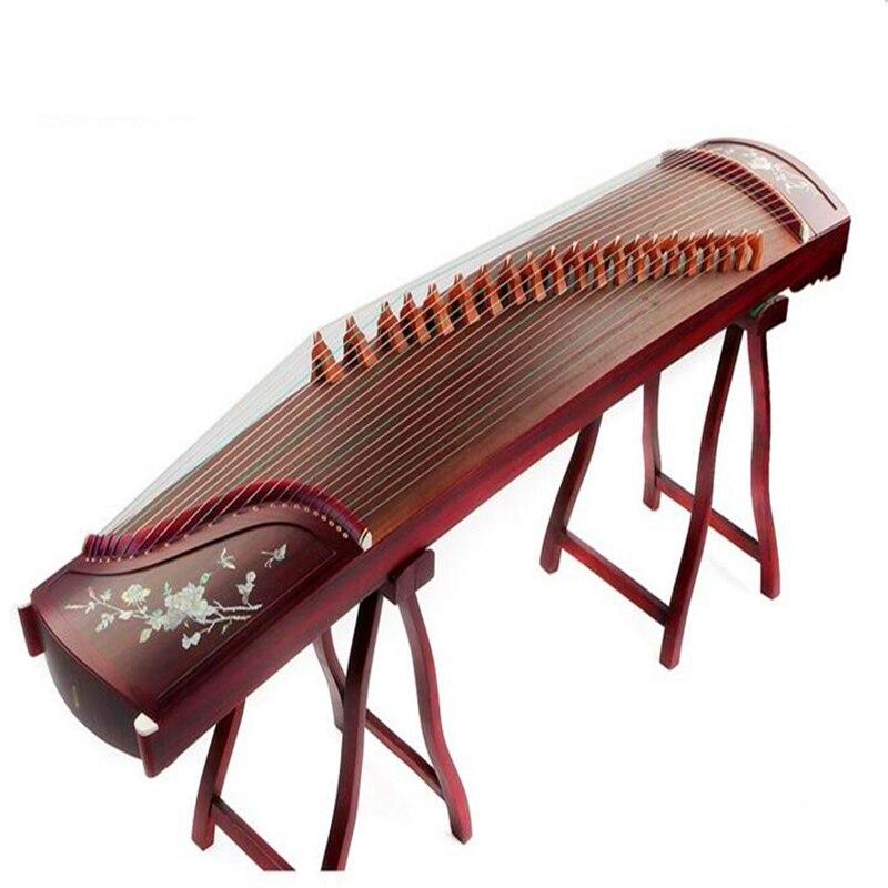 Brevet National de haute qualité chine Guzheng musique platane bois Instruments de musique cithare 21 cordes avec accessoires complets