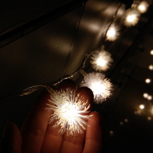 Image 4 - 10M 100LED LED Snowball String Lights Snow Flakes Christmas Xmas Light Holiday Wedding Party Decoration Lighting 110V 220V US EU