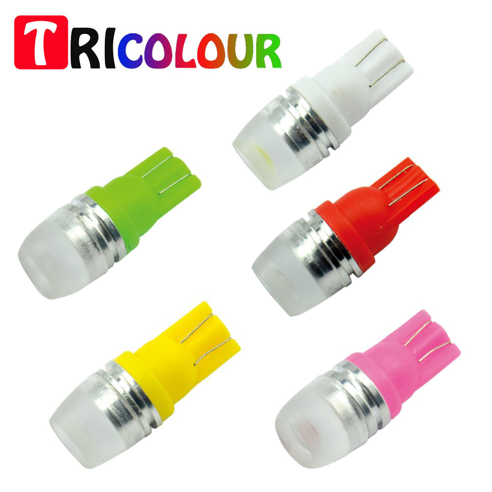 Tricolour 100x T10 W5w 194 168 2 Led Smd 5630 Concave Lens Car Leds Lampu Fog Light Mobil H3 2pcs Wedge Clearance License Plate Bulb Dc12v Tb26 In Signal Lamp From Automobiles
