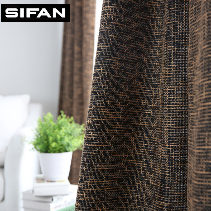 Bedroom Curtains Solid Color Japan Window Shades Imitation: Japan Solid Color Burlap Blackout Curtains For Living Room