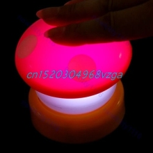 LED Night Light Mushroom Press Down Touch Lamp #H028#