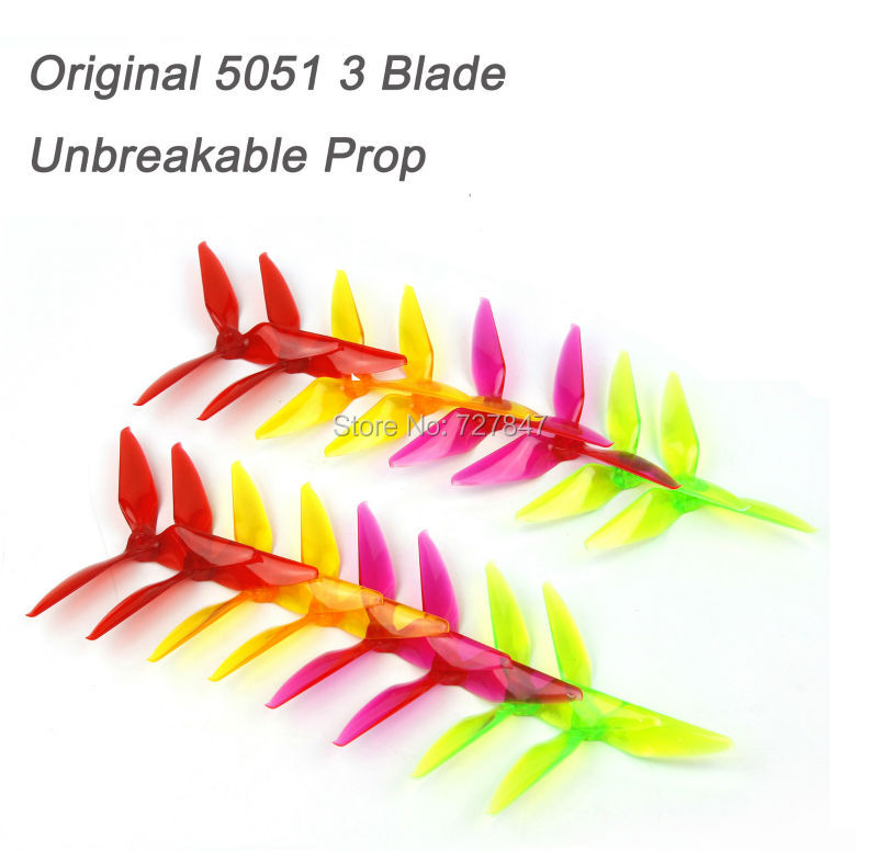 8 pair RC 5051 3 Blade Tri blade Transparant Propeller for FPV Race Drone QAV-X 5 Racing Quadcopter graupner alpha 300q 3d race copter rfh rc race copters rc plane race quadcopter