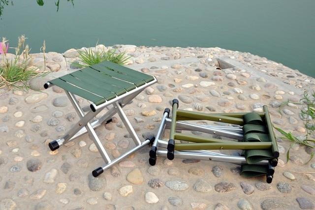 Cintura di metallo pieghevole sgabello pieghevole sedia di pesca