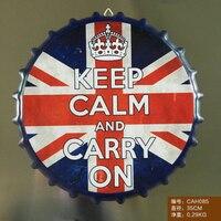 British flag Duże Piwo Pokrywa Cyny Znak Logo Naklejki Tablica Vintage Metal Malarstwo Ścienne Żelaza Sklep Zarejestruj Bar KTV Dekoracyjne