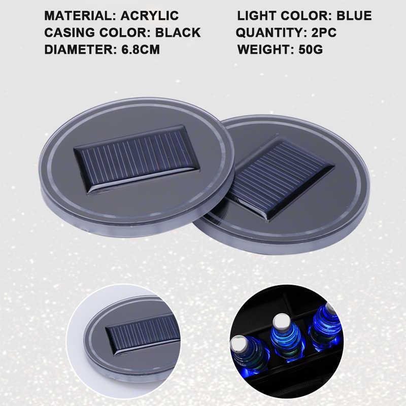 2X автомобильные Светящиеся стаканы держатель для напитков Противоскользящий коврик авто продукты Автомобильный интерьер USB красочные атмосферные огни лампа