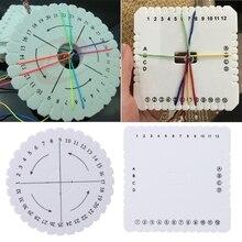 2Pcs Round Square Kumihimo Beading Cord Disc/Disk Braiding Braided Plate DIY