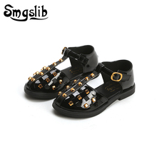 Girls Sandals Kids Leather Shoes Children Shoes 2019 Gladiator Sandals Baby Toddler Flat Princess Shoes Kids Casual Shoes