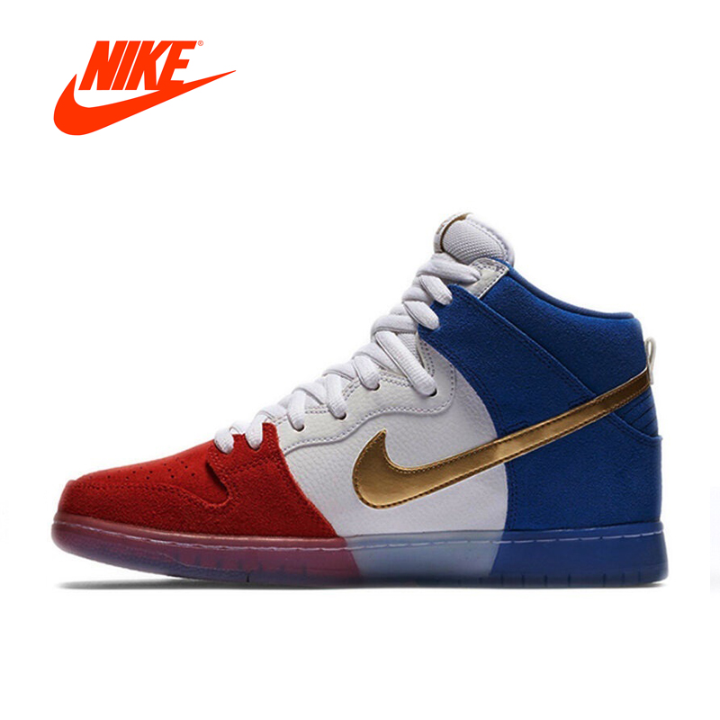 Original New Arrival Official Nike Dunk High Premium SB Men's Breathable Hard-wearing Skateboarding Shoes Sports Sneakers кроссовки nike dunk low sb valentines day 313170 662