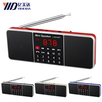 L 288 FM/AM Radio Portable Mini FM Radio Speaker Music Player Support TF Card USB For PC iPod Phone with LED Display