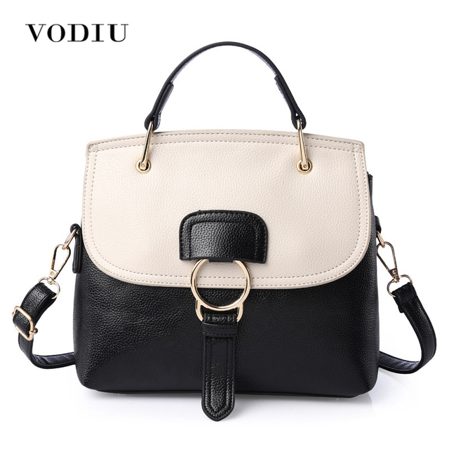 Women Bags Leather Over Shoulder Handbags Sling Messenger Crossbody Tote Casual Black White Shell Fashion Female