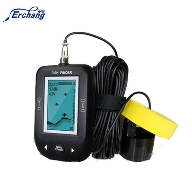 """Erchang Fish Finder 3"""" LED Portable Fish Finder Depth Sonar Sounder Alarm Fishing 100M Sonar Frequency Detection Depth Finder"""
