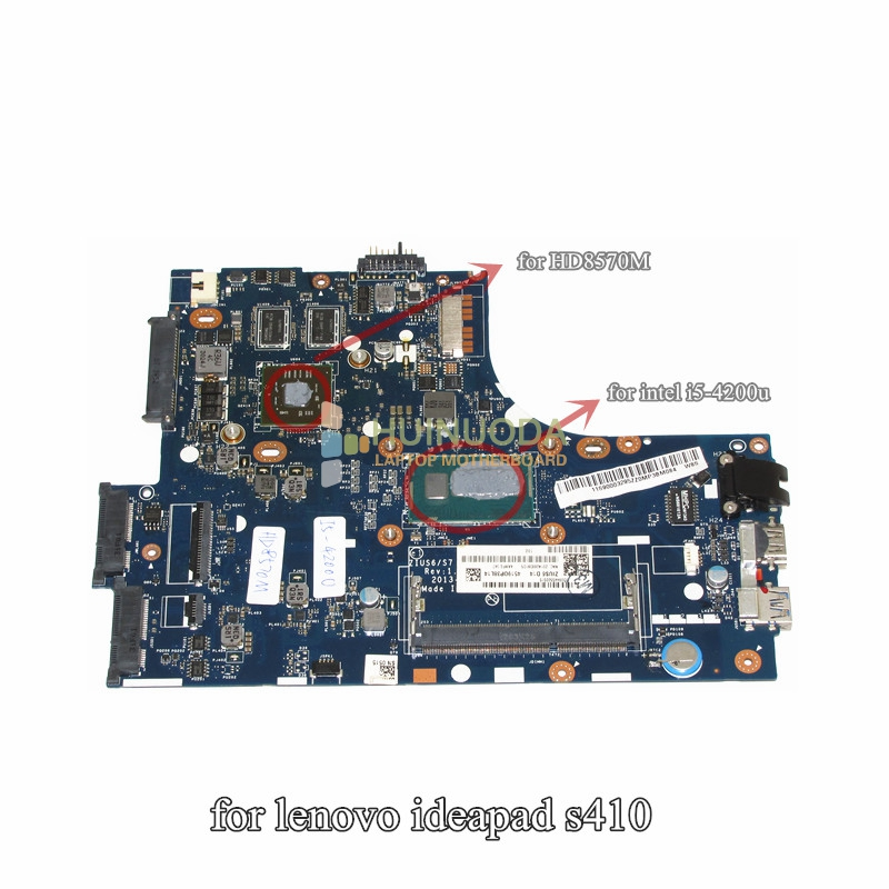 NOKOTION Notebook PC Motherboard For Lenovo S410 Main Board System Board LA-A321P I5-4250U HD 8570M 1GB Discrete Graphics DDR3 613294 001 notebook pc motherboard for hp probook 6450b 6550b main board system board hm57 hd ddr3