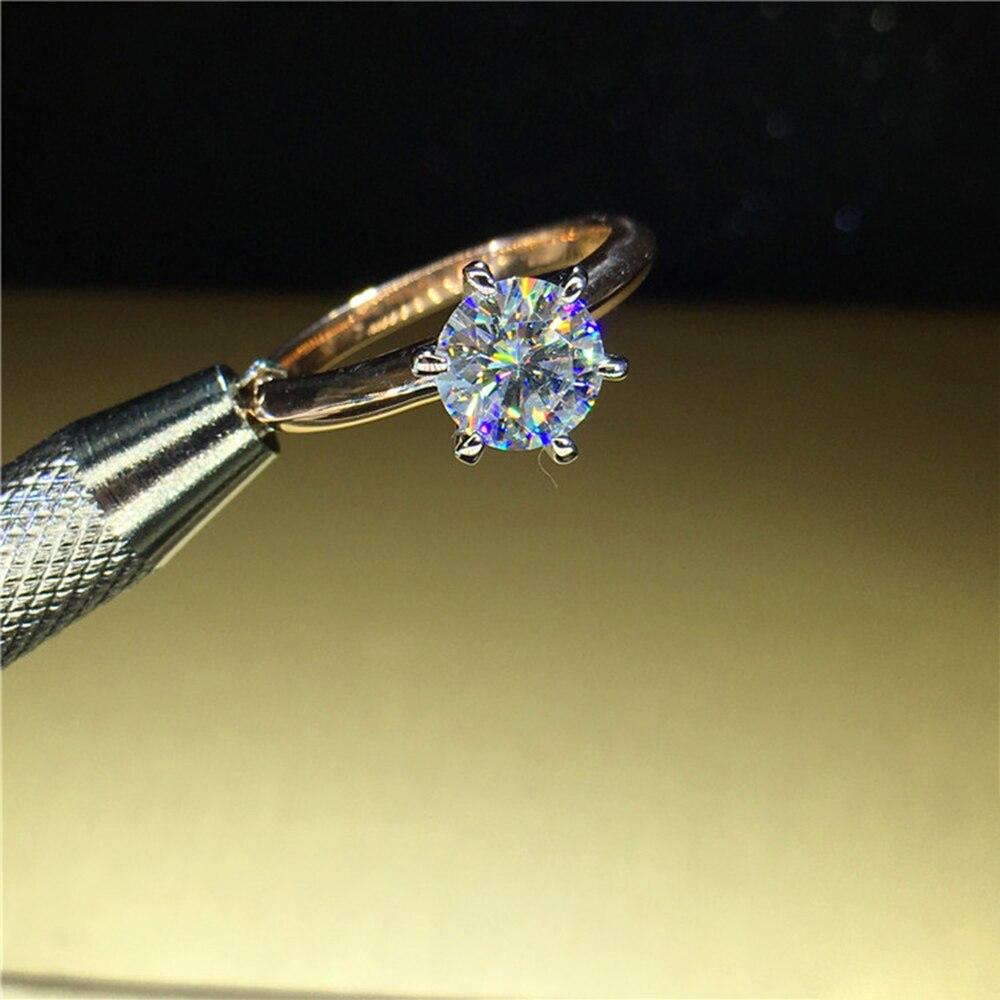 100% 18 K Au750 1ct Oro Giallo di Fidanzamento Moissanite Anello di Diamanti D VVS Con Certificato Nazionale di Colore Per Le Donne-in Anelli da Gioielli e accessori su  Gruppo 2