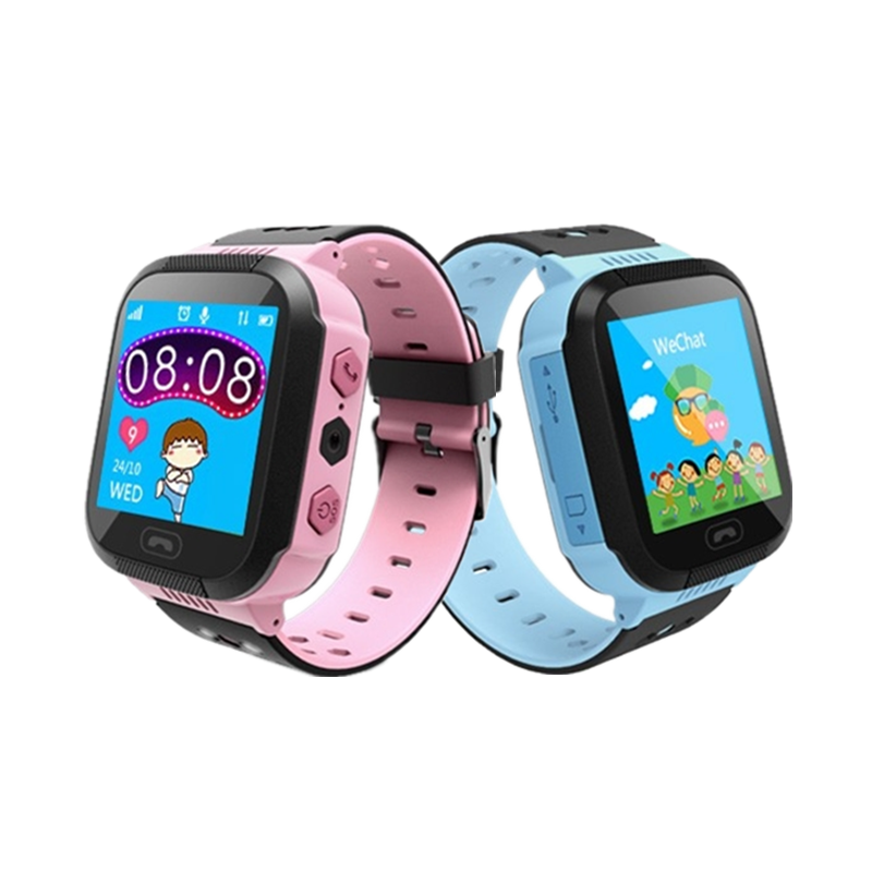 Kids Smart Watch GPS Tracker Watch with Flash Light Touch Screen SOS Call Location Finder for Child Q528-YQT D