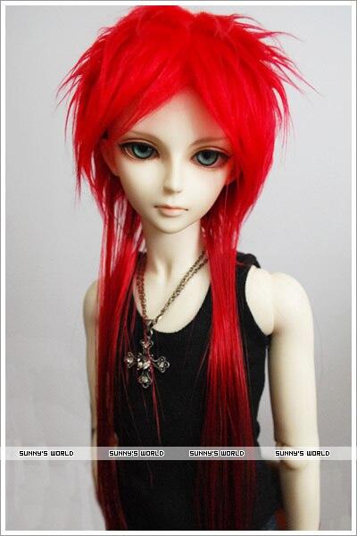 1/3 1/4 1/6 BJD Doll wig red long hair 30CM