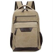 Klassische modische design leinwand rucksack männer reisetasche der großen kapazität kausal rucksack buch tasche laptop rucksack