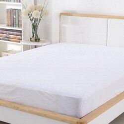 180X200 CM frotte bawełniany materac pokrywa 100% wodoodporna hipoalergiczne oddychająca materac Protector łóżko Bug dowód pokrowiec na materac w Pokrowce i klamry do materacy od Dom i ogród na