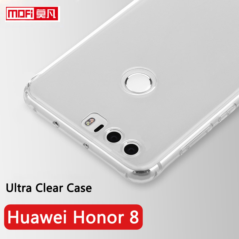 Huawei Honor 8 Acoperire din spate din silicon moale original Mofi 4gb 5.2 inch Huawei Honor8 Clear Fundas Ultra subtire 8 Coque Honor 8 cutii