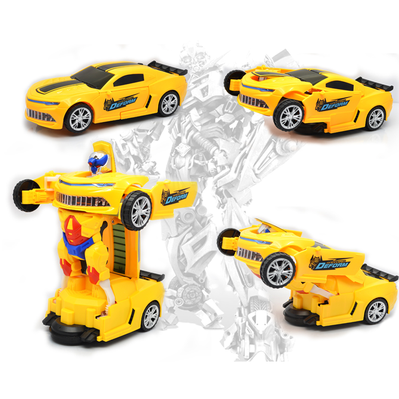 YIJUN 3D Flashing Led Light Music Car Electric Deformation Toy Cars Kids Toy Childrens Gift Toy Vehicles
