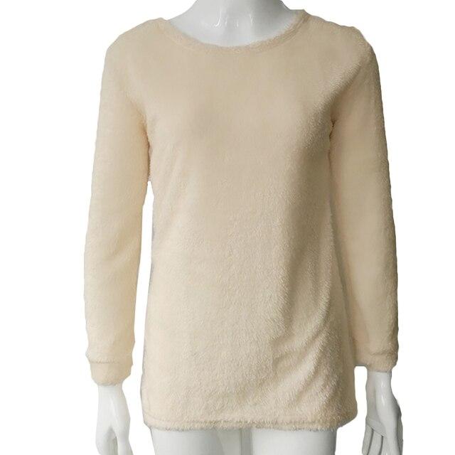 Sexy señoras suéter suave caliente knitwear moda mujer manga larga ...