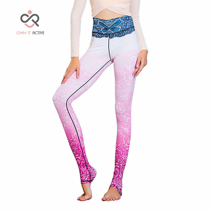 Pink Bow Sport Pants For Women Fitness Running Tights Sports Suits Cycling Yoga Pants Sports Leggings P153