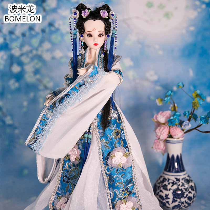 Handmade Chinese Ancient Doll Tang Beauty Princess PingYang 1/6 Bjd Dolls 12 Jointed Doll Toy For Girl Christmas Gift Brinquedo