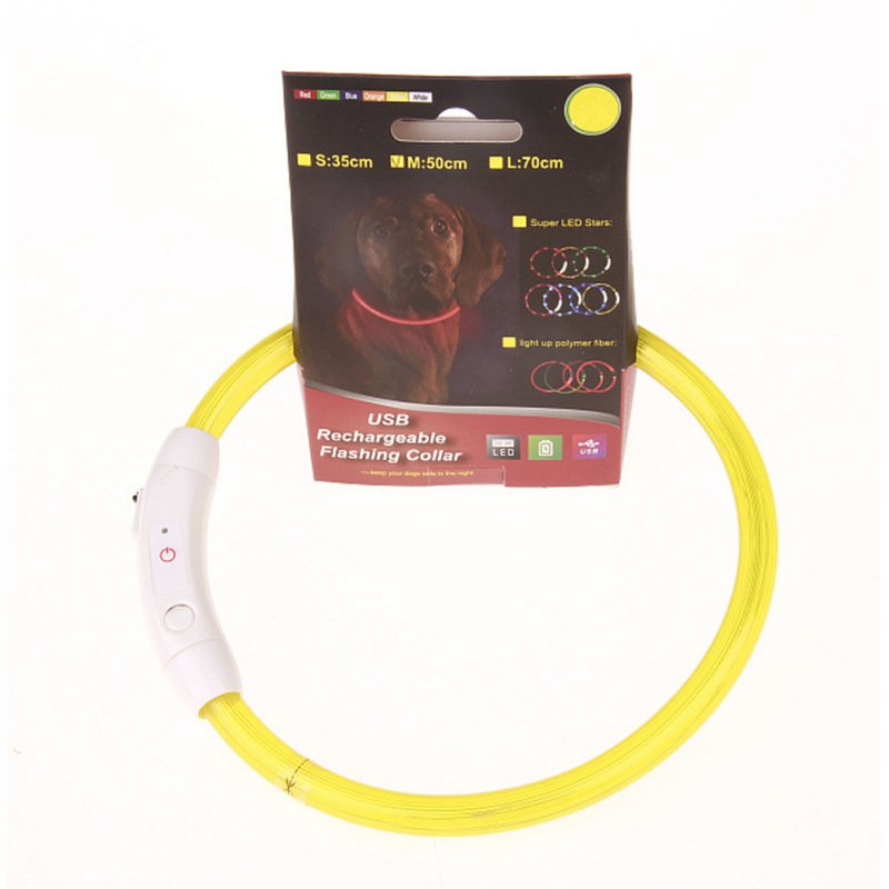 LED Blinkende USB Praktisk Genopladeligt Pet Hund Kugle Light Band - Pet produkter - Foto 4