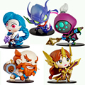 Anime LOL FUNKO POP Toys Leona Jax Khazix Gragas Jinx Darius 10cm PVC Action Figures Collectible Model Toys