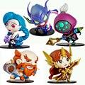 Funko pop juguetes anime lol leona jax khazix gragas darius jinx 10 cm pvc figuras de acción colección modelo juguetes