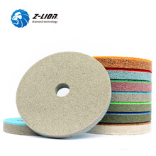 "Z LION 7pcs/Set 125mm 5"" Sponge Diamond Polishing Pads Marble Granite Artificial Stone Polishing Cleaning Tool Wet Sanding Disc"