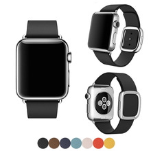 For Apple Watch Band Modern Buckle Band for Apple Watch 38MM 42MM Smooth Granada leather with