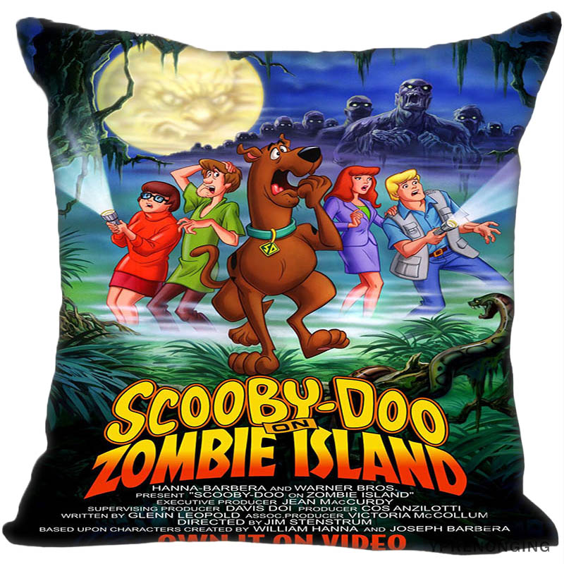 Custom Decorative Pillowcase Scooby Doo Square Zippered Pillow Cover 35X35,40x40,45x45cm(One Side)80527-21-11