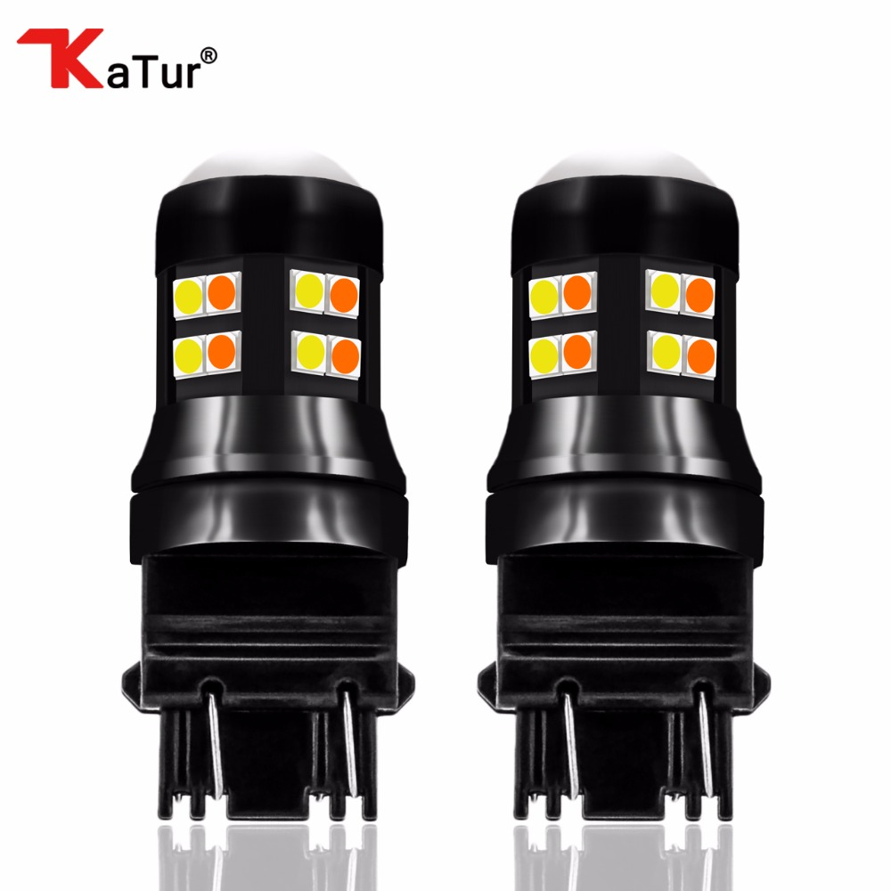 Super Led 2x 3157 Switchback Led Bulbs White&Yellow Dual Color P27 T25 Led Turn Signal Tail Brake Stop Light 7443 1157/BAY15D 1 x t25 3157 50w led car auto signal brake stop tail light bulb signal lamp white external lights