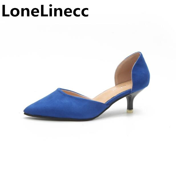 2018 women sandals Thin high heels shoes women fashion sexy Pointed toe Slip-On black dress Office Career ladies shoes woman