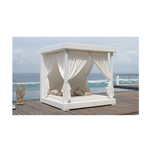 Factory outlets Latest Designs Wicker Daybed Outdoor Sun Bed unique rattan day bed