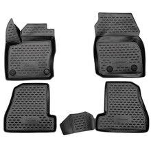 Для Ford Focus 3 2015-2019 3D коврики в салон 4 шт./компл. ELEMENT3D1671210k
