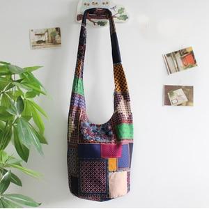 Image 4 - Винтаж хиппи Сумка в стиле бохо Для женщин сумка через плечо сумки хлопок Для женщин Сумки книги школьная сумка дорожная сумка мешок