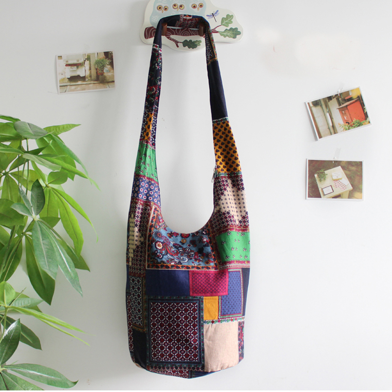 604193a6a € 13.17 50% de DESCUENTO|Aliexpress.com: Comprar Bolso bohemio Hippie  nacional para mujer, bolso de mano de algodón para mujer, bolso de mano  para ...