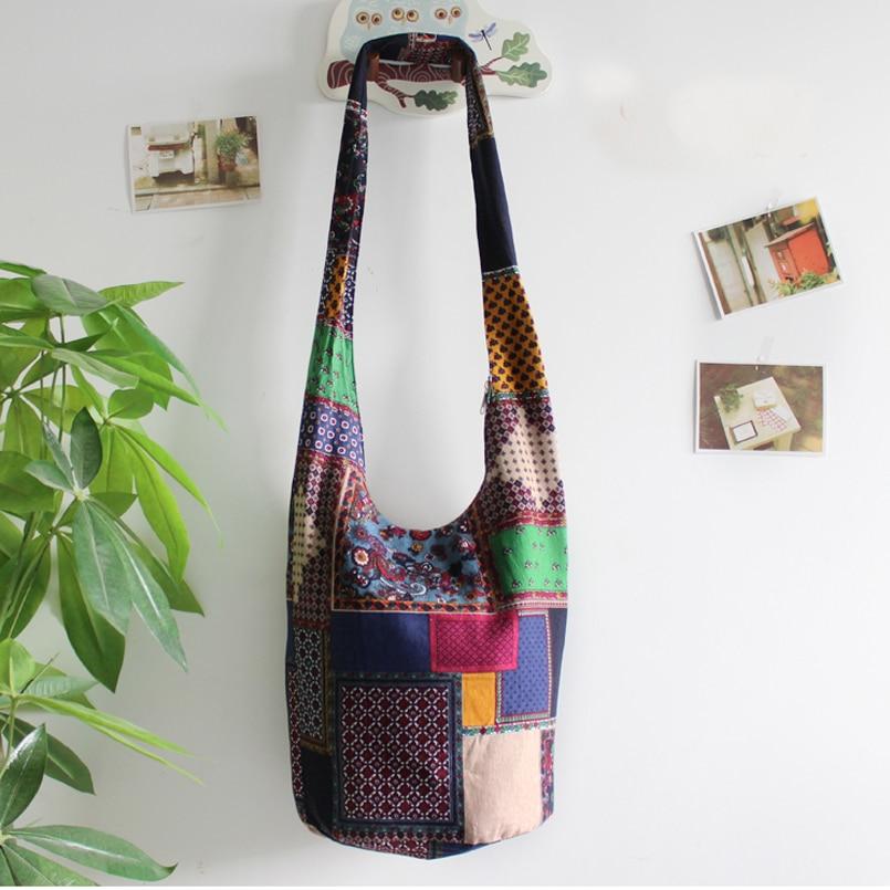 Image 5 - Vintage Hippy Hippie Bohemian Bag Women Shoulder Crossbody Bags Cotton Womens Handbags Books School Travel Bucket Baghandbag mediumbag labelhandbag frame -