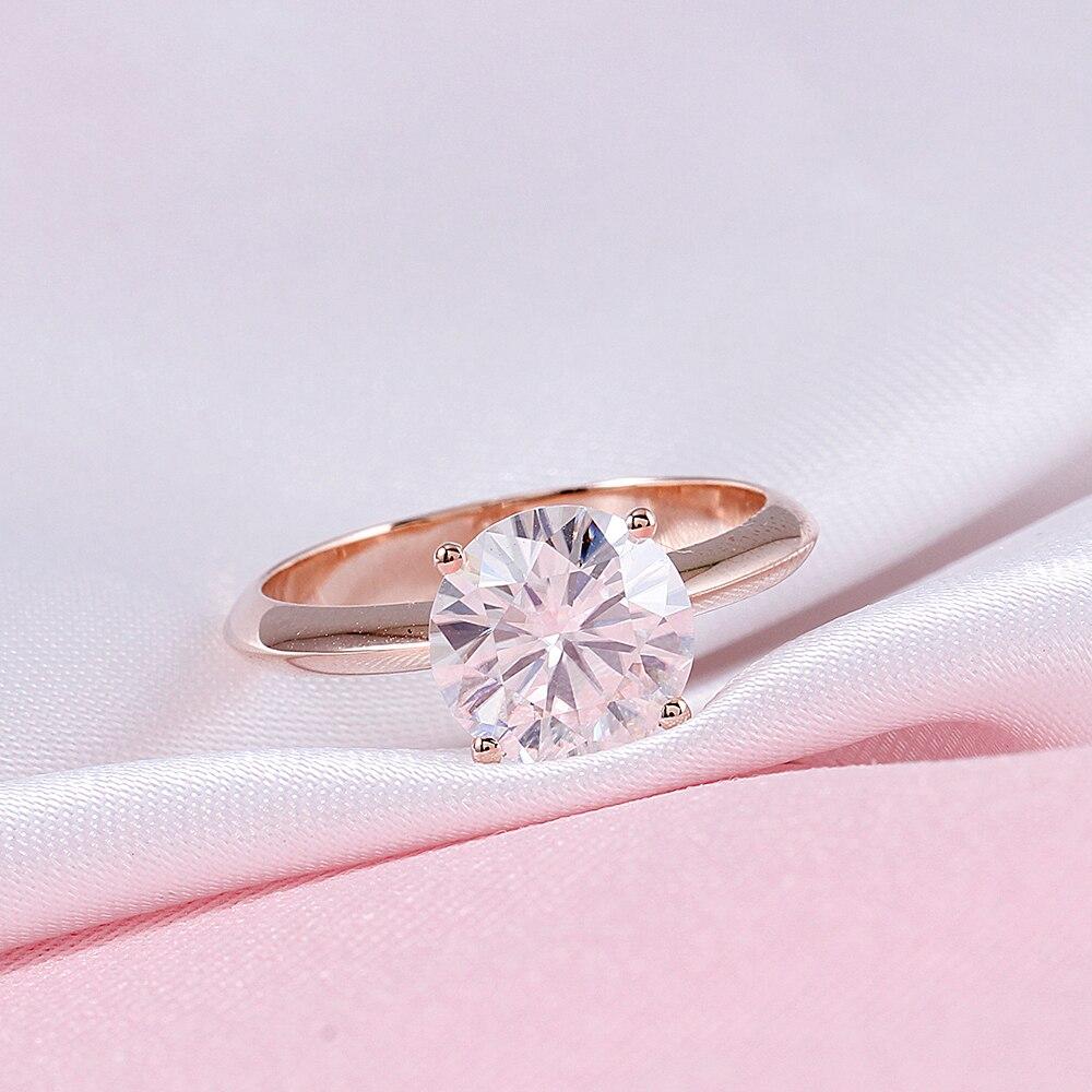 6d61aefc8e24 SuoHuan tamaño 8-11 solitario hombres Anillo blanco grande piedra Zircon  Crystal Gold Filled boda