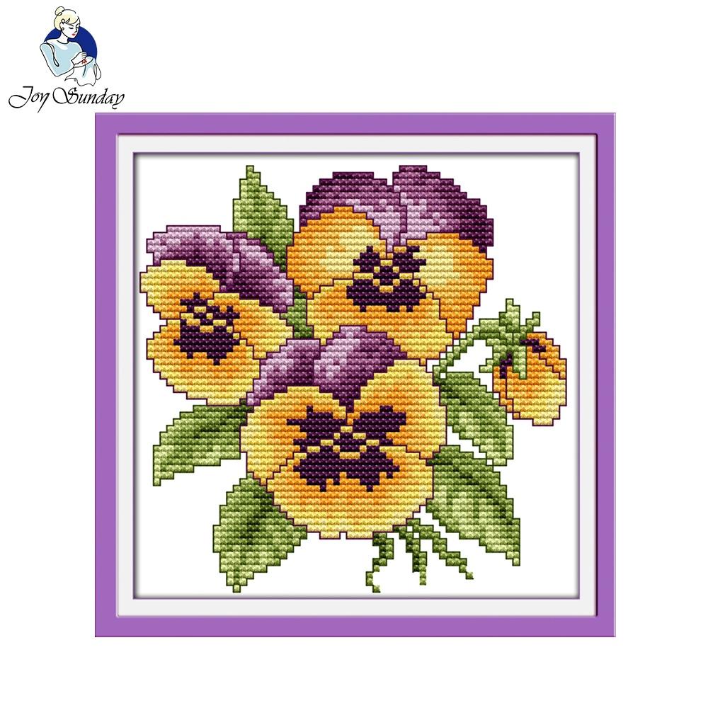The Flower vases 52/×20CM Joy Sunday Cross Stitch Kit 14CT Stamped Embroidery Kits Precise Printed Needlework