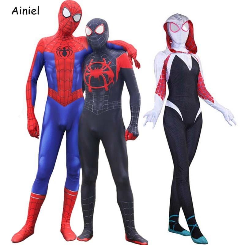 Spider Man Into The Spider Verse Miles Morales Peter Parker Gwen