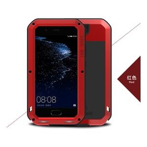 Image 5 - Love Mei Métal étui pour Huawei P10 P10 Plus Antichoc Couverture de Téléphone Pour Huawei P10 Plus Robuste Corps Entier Anti Chute Étui Darmure