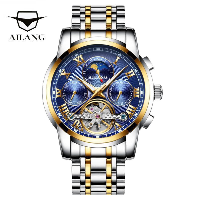 AILANG original brand men s automatic watch top luxury steel watch business man fashion with standard