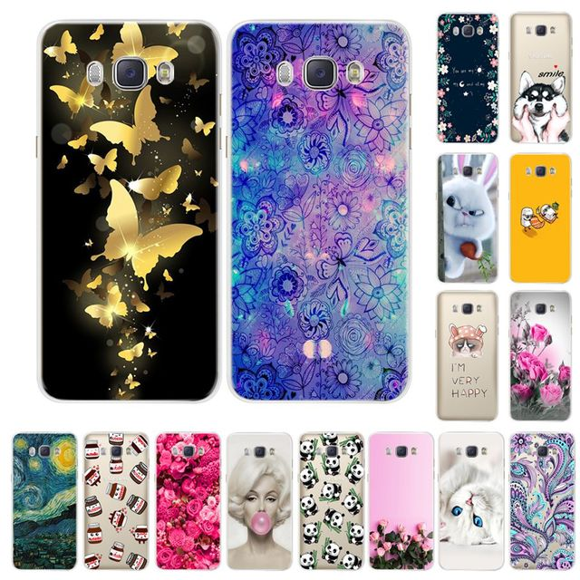 Phone Case For Samsung Galaxy J5 2016 J510 J510F Soft Silicone TPU Cartoon Protector Cover Cases For Samsung J5 2016 J510 Bumper
