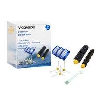 Bristle Flexible Beater Aero Vac Filter Side Brush For IRobot Roomba 600 Series Replenishment Kit 600