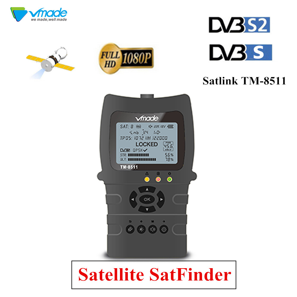 Full HD Finder DVB-S2 DVB-S FTA Digital Satellite SatFinder Meter HD Satellite Finder Tool TFT LCD Sat Finder Lnb Signal Meter