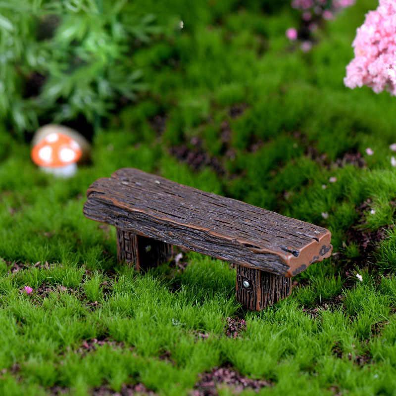 1 шт. деревянный стул из смолы, мебель, ремесла, украшение двора для миниатюрного кукольного домика, современные пейзажные игрушки, сказочный садовый орнамент